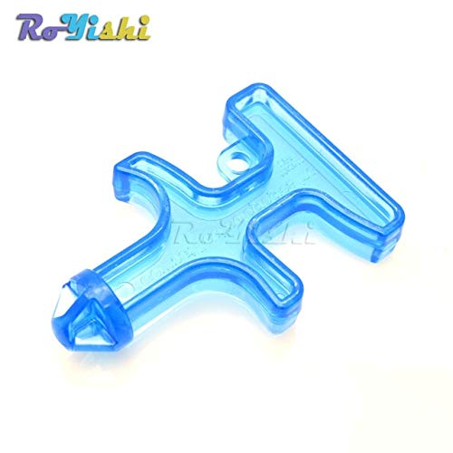 zuizay 1pcs New Fashion Nylon Plastic Steel Drill/Mini Self Defense Stinger Drill/Protect Tool Key Chain ()