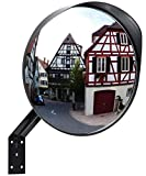 Convex Security Mirror by Gelibe-12'' Curved Safety Mirror with Adjustable Fixing Bracket for Road Safety and & Personal Security