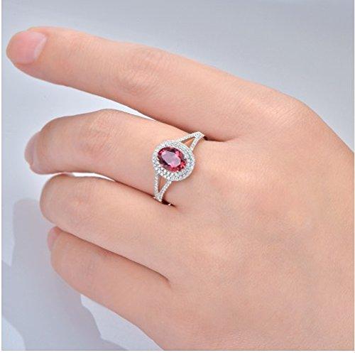 GOWE 14K White Gold Natural 1.82ctw Pink Tourmaline & Diamond Engagement Ring 2