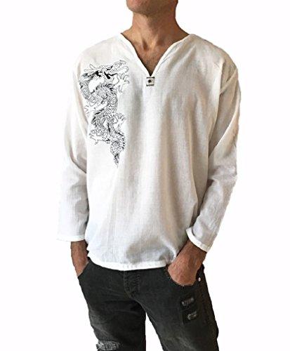 Men's Light Weight 100% Cotton Dragon Shirt (XXL) by Love Quality (Image #1)