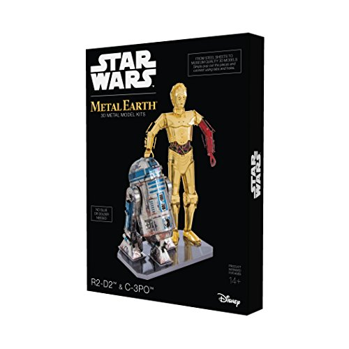 Fascinations Metal Earth Star Wars R2D2 and C-3PO Box Set 3D Metal Model Kit