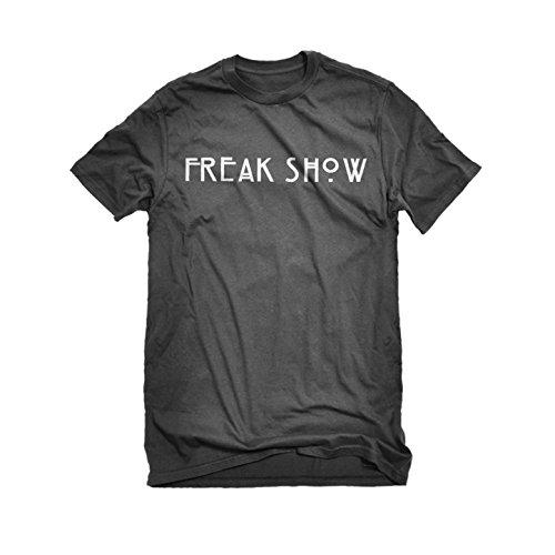 [Womens Freak Show T-Shirt Charcoal Grey X-Large] (Costume De Marie 2016)