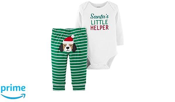 bd10d5a25be0 Amazon.com  Carter s Baby My 1st Christmas Little Helper 2 Piece ...