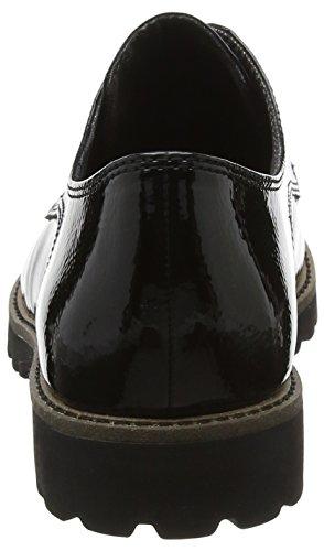 Basse Patent Black Scarpe Donna Oxford 23214 Tamaris Nero Stringate zqw6tUxU