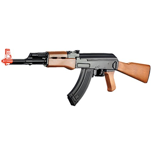 BBTac AK Airsoft Gun Powerful Spring Full Size Assault Rifle Machine Gun, Large Magzine, with BBTac Warranty