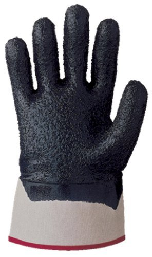 Extra Grip Jersey Gloves (SHOWA 7066R Palm-Coated Nitrile Glove, Rough Grip, Cotton Jersey Liner, Reinforced Safety Cuff, General Purpose Work, Medium (Pack of 12 Pairs) by Showa Best Glove)