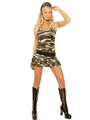 Cutie Cadet Costumes (Elegant Moments Women's Cadet Cutie, Camouflage, Small)