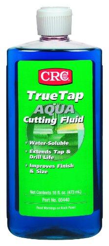 Crc Truetap Aqua Water Soluble Cutting Fluid  16 Fl Oz Bottle  Blue