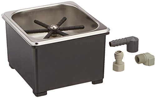 Espresso Parts Pan Dimensions Counter Top Rinser, 6 by 6 by 2'', Stainless Steel by EspressoParts