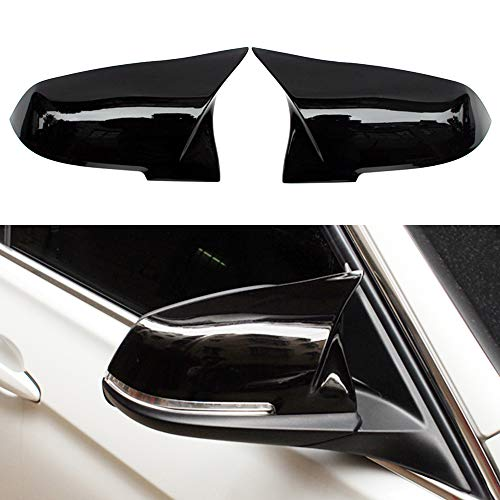 Huichi F30 Gloss Black ABS Replacement Rearview Mirror Cover Cap Compatible for BMW 3 Series F30 F34 1 Series F20 2 Series F22 4 Series F32 F33 F36 F87(M2) X1 Sereis E84
