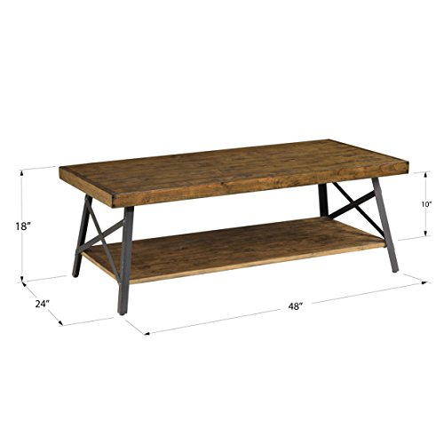 home, kitchen, furniture, living room furniture, tables,  coffee tables 7 on sale Emerald Home Chandler Rustic Industrial Solid Wood and promotion