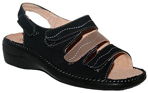 Damen Sommer Sandale von Cushion Walk. TR-lässt. Schwarz