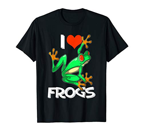 (I Love Frogs Cute Frog Gift T Shirt for Kids and Adults)