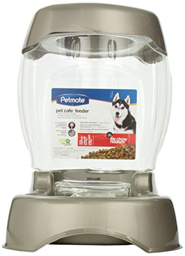 Pet Food Dispenser (Petmate Pet Café Feeder, 12 pound capacity, Pearl Tan)