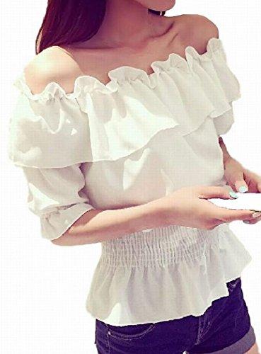 苗ダンプ研究所(TERA Dream) ブラウス オフショルダー Bigフリル 裾フレア ウェストゴム レディース