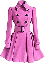 Amazon.com: Pink - Wool & Blends / Wool & Pea Coats: Clothing