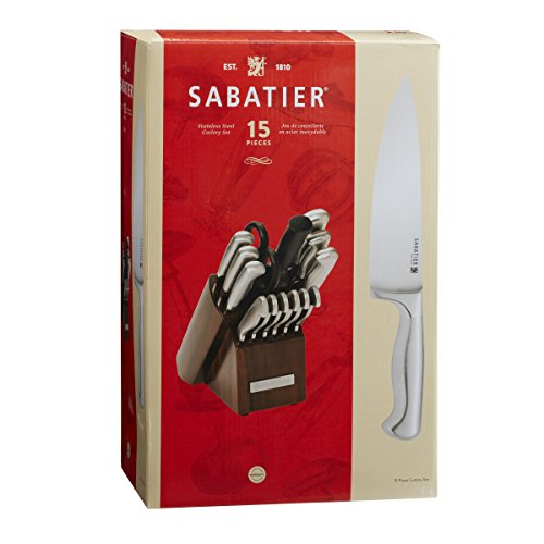 Sabatier Knives Review: Sabatier 15-Piece Stainless Steel Hollow Handle Knife
