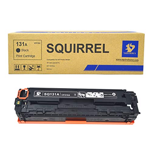 Squirrel 131A CF210A Black Toner Cartridge Replacement Environmental Remanufactured for HP Laserjet Pro 200 Color MFP M276nw M276n (Remanufactured Black Drum Cartridge)