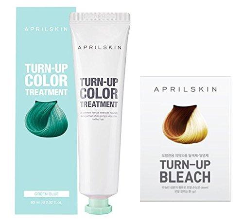 [APRILSKIN] TURN-UP COLOR TREATMENT(GREEN BLUE) 2each & TURN-UP BLEACH 2each