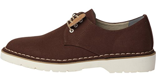 Dark Brown Loafer (Gadae-026 Casual 3-Holes Canvas Dress Loafers Shoes Dark Brown Men 10)