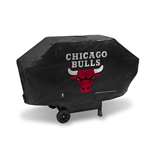 Rico Industries NBA Chicago Bulls Deluxe Grill Cover, Black, 68 x 21 x 35