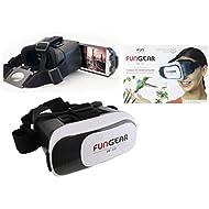 Lunettes casque VR 3D réalité virtuelle 100% immersive lentilles ajustables confort maximal applications et films 360° compatible Smartphones 3.5''à 6.0'' Iphone 7/ Iphone 6/ Samsung Galaxy S7/ Galaxy S6/ Galaxy S5/ Sony Experia X, HTC desire 610, Huawei Honor 5…