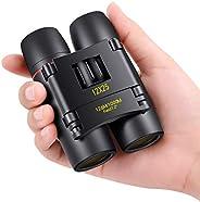 POLDR 12X25 pequeños prismáticos de bolsillo para adultos compactos,Mini niños prismáticos niños para observac