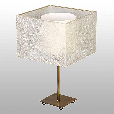 Bauhaus - Lámpara de mesa (Bronce, Color Crema, 33 cm de ...