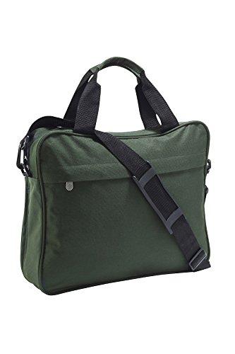 Bolsa de Hombro para ordenador portátil, Laptop Briefcase, Maletín con asa de transporte en rojo verde botella
