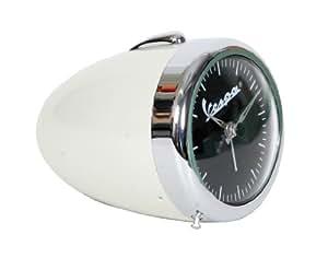 Reloj nostálgico Vespa con diseño original de faro Vespa, súper idea para regalo, cromado / blanco crema
