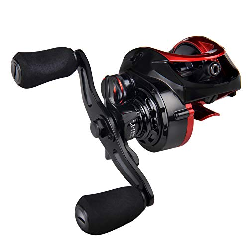 Fiblink Baitcasting Reel 18LB Carbon Fiber Drag 7.3:1 Baitcasters for Freshwater and Saltwater with Reel Bag (Left (Best Fiblink Baitcasting Reels)
