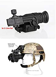 E.T Dragon PVS-14 Digital Night Vision Goggle IR Night Vision Monocular with J-Arm Headset Adapter Black
