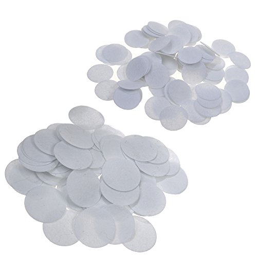 BCP 200 Pieces 1 Inch 2 Inch Round Felt Circles For DIY Craft Projects White Color