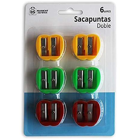 Market Suprem A0267 Sacapuntas, 6 Unidades, Metal, Multicolor,: Amazon.es: Hogar