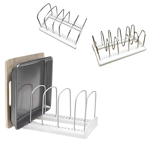 MSOO Adjustable Kitchen Bakeware Organiser Rack Baking Tray Cutting Board Storage Ho (A)