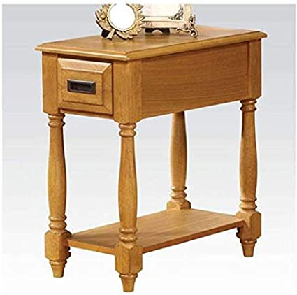 Acme Furniture 80510 Qrabard Side Table Light Oak