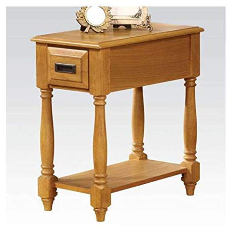 Acme Furniture 80510 Qrabard Side Table, Light Oak ()
