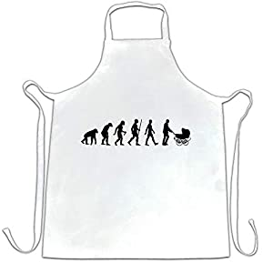 Parenthood Chef's Apron Evolution Of A Family New Born Baby White One Size