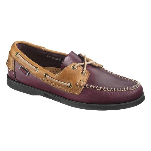Sebago Mens Horween Spinnaker Boat Shoe Prugna / Mid Brown