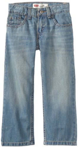 Levi's Boys' 505 Regular Fit Jeans, Anchor, 10