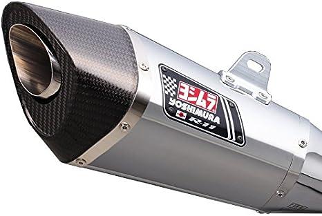 (18) EXPORT SPEC チタンブルー/ カーボン Ninja250/400 R-11サイクロン マフラー スリップオン STB ヨシムラ 政府認証 [サイレンサーカバー] [エンド] (YOSHIMURA) 110-235-5E80B
