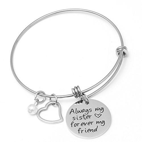 Sunflower Jewellery Sister Bracelet Always My Sister Forever My Friends Best Friends Jewelry for Her Women Gils ()