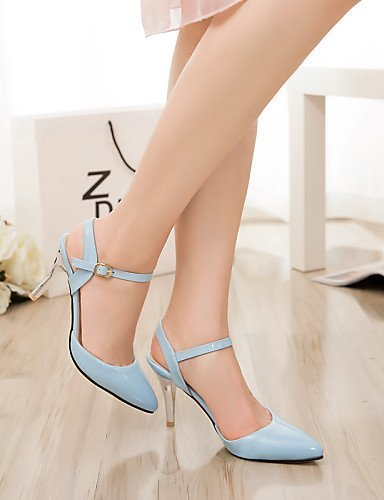 ShangYi Women's Shoes Heel Heels / Pointed Toe Sandals / Heels Outdoor / Dress / CasualBlack / Blue / Pink / Red / White /1392 Almond gLncK4