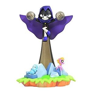 41Njo4bgGQL. SS300 DIAMOND SELECT TOYS DC Gallery: Teen Titans Go!: Raven PVC Figure,Multicolor