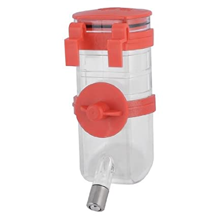 eDealMax perro de mascota perrito Rojo colgante Clara de Agua Potable alimentador de la Botella