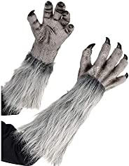 AMSCAN Gray Werewolf Gloves for Halloween Costumes, 18&