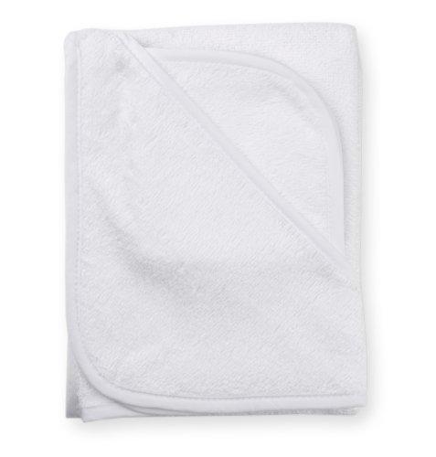 American Baby Company 100% coton Terry capuche Ensemble de serviettes, blanc
