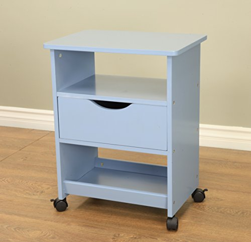 Frenchi Home Furnishing Rolling Cart with Drawer, Blue by Frenchi Home Furnishing