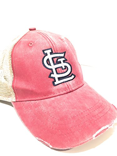 fan products of Mary's Monograms STL Monogrammed Cardinals Trucker Hat Red