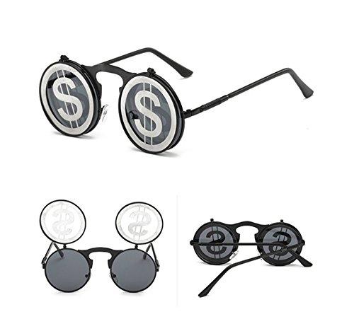 Et Lunettes Flip Lens C2 Hommes Style Soleil De Gothique Vintage Pour Femmes XqyrXBzw